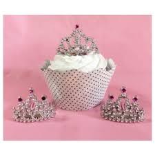 cupcake toppers mini tiara cupcake topper pkg of 12