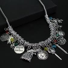 necklace charm diy images Game of thrones charm necklace game of thrones merchandise jpg