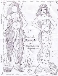 mermaid paper doll color marges8 u0027s blog