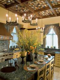 kitchen theme ideas hgtv pictures tips inspiration hgtv brown kitchen with contemporary and rustic elements