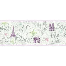 Home Decor By Color York Wallcoverings Inspired By Color Paris Wallpaper Border