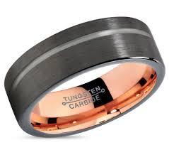 gunmetal wedding band gunmetal black tungsten ring gold wedding band ring
