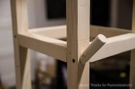remodelaholic easy diy wooden cube coat rack for just 10