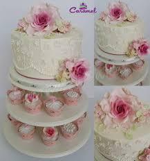 mini wedding cake u0026 cupcakes cake by caramel doha cakesdecor