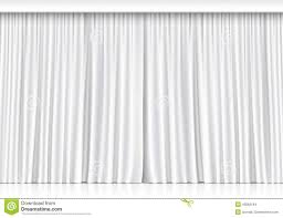 White Curtains Vector White Curtains Isolated On White Background Stock Vector