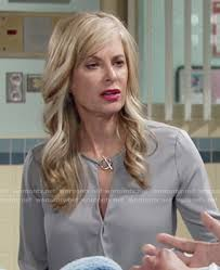 ashley s hairstyles from the young and restless wornontv ashley s grey toggle neck blouse on the young and the