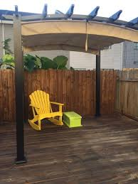 Home Depot Pergola by Hampton Bay 9 Ft X 9 Ft Steel And Aluminum Arched Pergola With