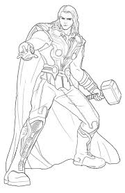 Thor Coloring Pages To Print Coloringstar Thor Coloring Page