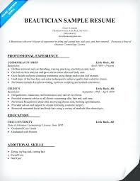 Cosmetologist Resume Template Resume Samples For Cosmetologist Cosmetologist Resume Examples