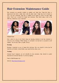 Hair Extension Tips by Hair Extension Maintenance Guide