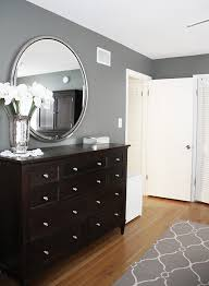 bedroom design black furniture gray walls black furniture and white trim love this except that