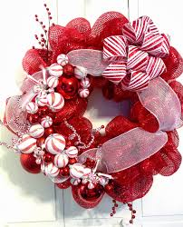 tangled wreaths christmas holiday deco mesh red u0026 white