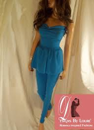 royal blue leggings u0026 peplum top blue pants suit leggings