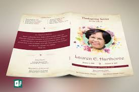 funeral program design watercolor funeral program publisher template on behance
