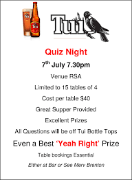 Table Of 4 by Quiz Night Rsa Base Wp