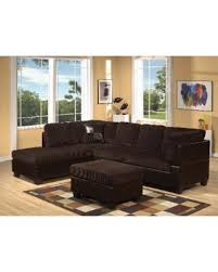 winter deals on acme connell corduroy espresso sectional sofa