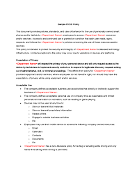 sample byod policy free download company expense policy template