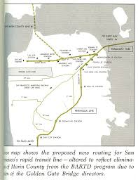 Sf Bart Map A Fascinating Look At How The Bart Map Has Changed Over The Years