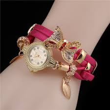 pink bracelet watches images Minhin butterfly retro bracelet watch for women free shipping jpg