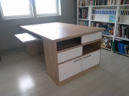 le bureau villeneuve d ascq bureau sur mesure avec deux postes de travail réalisé à villeneuve d