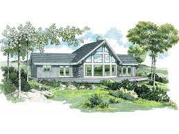 eplans a frame house plan just the right rustic mix 1495