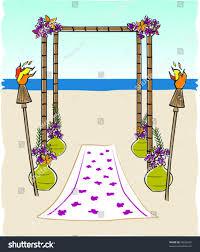 bamboo wedding arch retro tropical tiki bamboo wedding arch stock vector 78636397
