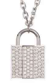 lock pendant necklace images Swarovski swarovski crystal pave lock pendant necklace jpg
