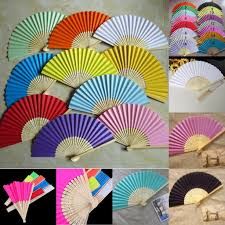 paper fans wedding paper fan fan with bamboo ribs craft fan solid