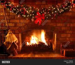 christmas fireplace image u0026 photo bigstock