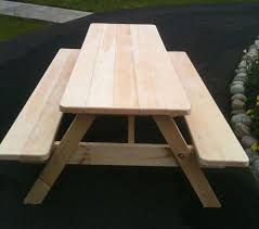 Plans For Building Picnic Table Bench by Best 25 Picnic Table Plans Ideas On Pinterest Outdoor Table
