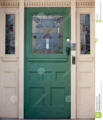 Stained Glass Door Panels by Vintage Wooden Entrance Door With Stained Glass Stock Image