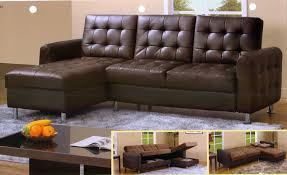 Pull Out Sectional Sofa Leather Sectional Sleeper Sofa With Chaise Tourdecarroll Com