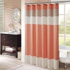Shower Curtains Orange Orange Shower Curtains For Bed Bath Jcpenney