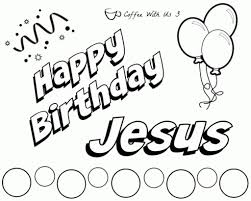 happy birthday jesus coloring page funycoloring