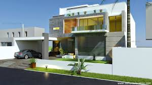 Modern Contemporary Home Plans by 3d Front Elevation Com Beautiful Modern Contemporary House