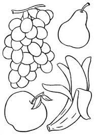 fruit coloring print color educational coloring