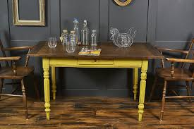 reclaimed top shabby chic yellow dining side table by the treasure
