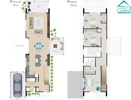 Narrow House Plans With Garage A Narrow Two Story Space Smart House Plan Perfect For Modern