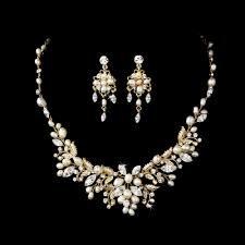 gold crystal bridal necklace images Stress away bridal jewelry boutique crystal and freshwater pearl jpg