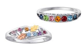 birthstone rings custom family birthstone rings limogès jewelry groupon