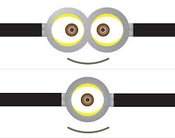 printable minion goggles template