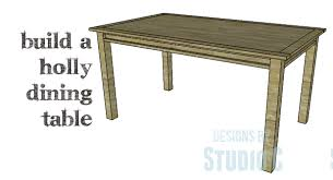 a beautiful and simple to build dining table u2013 designs by studio c