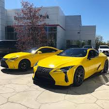 lexus yellow lc 500 rc 350 tag a mate lexusonthepark carfanatics
