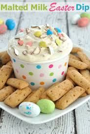 malted easter eggs malted milk easter dip dip recipe creations