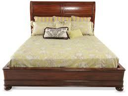 bernhardt vintage patina platform bed mathis brothers furniture