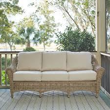 lynwood wicker sofa with sunbrella cushions u0026 reviews birch lane