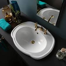 White Drop In Bathroom Sink Contemporary Drop In Bathroom Sinks Bellacor