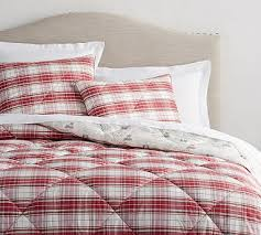 Twin Plaid Bedding by Cotton Plaid Bedding Pottery Barn