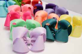 boutique bows solid color hair bows 4 inch hairbows baby girl bows in all