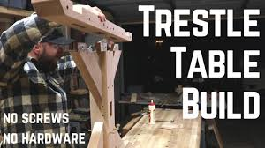 making a trestle table indestructible farm house trestle table w old joinery